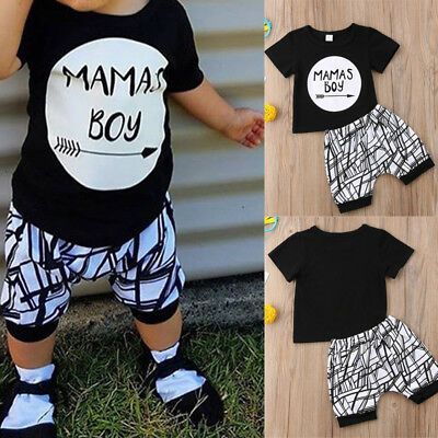 Baby Clothes Summer Short Sleeve Shirt+short Pants Kids Boys Outfits Set Suit