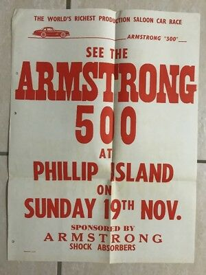 1961 Armstrong 500 (pre Bathurst 1000) Programme and Poster The Great Race