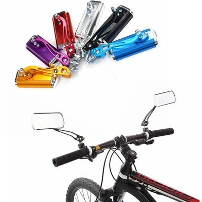 NEW 1 Pair Bicycle Cycling Handlebar Rear View Rearview Mirror Rectangle Back AU