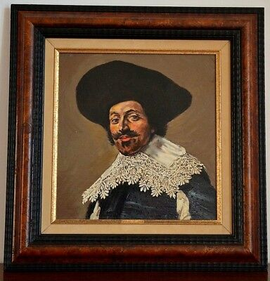 Quadro dipinto olio-Copy of Portrait d'homme of Frans Hals-French oil painting