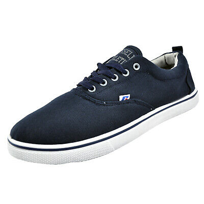 Russell Athletic Oxford Lace Classic Casual Canvas Plimsoll Pumps Trainers Navy