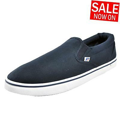 Russell Athletic Slip On Mens Calssic Casual Canvas Plimsoll Trainers