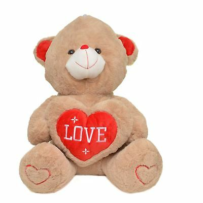 """Giant 27.5"""" Soft Plush Teddy Bear Red Heart Love Birthday Valentines Gifts Toy"""