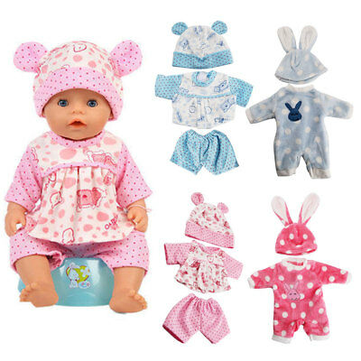 Baby Doll Clothes Fit Zapf Doll Jumpsuit Suit Doll Pajamas Sleeping Clothes