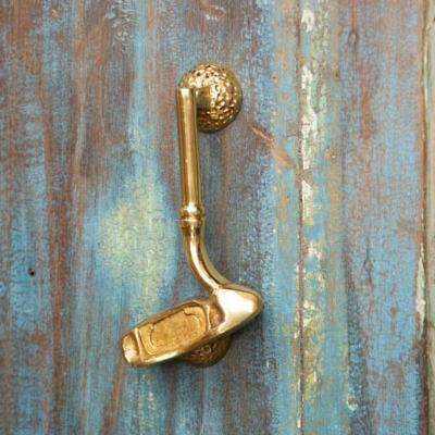 Polished Brass Golf Club Door Knocker - Supplied With Fixings