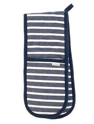 Seasalt Breton  Marine Blue Double Oven Glove by Ulster Weavers