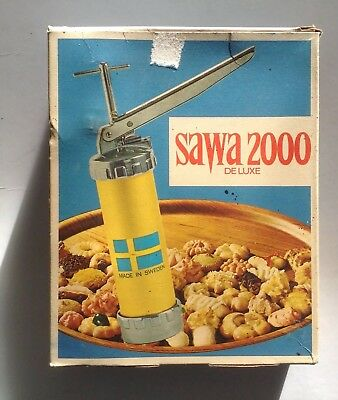 Vintage Swedish SAWA 2000 Deluxe Soft Mixture Clever Must Have Baking Piping Gun