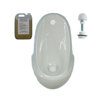 Waterless Urinal COMPLETE KIT Concealed Trap Waste & Chemicals  NEW inc VAT