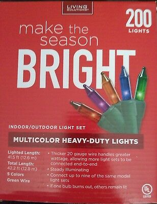 Living Solutions Holiday 200 Multi Color Heavy Duty Indoor/outdoor Light Set