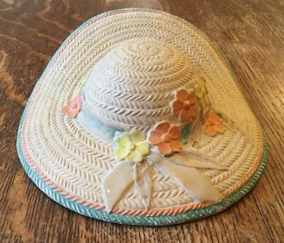 Vintage Straw Hat Wall Pocket -By Varden