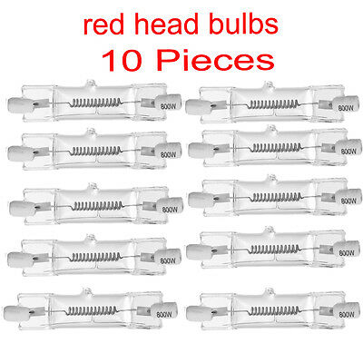 10Pc Studio Continuous Red Head Light Video Lighting 800W Bulb Dxx  Tungsten Hal
