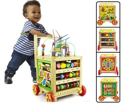 Walk Play Learn Toddlers Wooden Walker Plus Educational Learning Stand