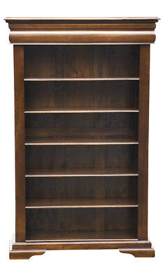 Versailles Elise Bookcase 5 Shelf and Recessed Drawer - Chestnut