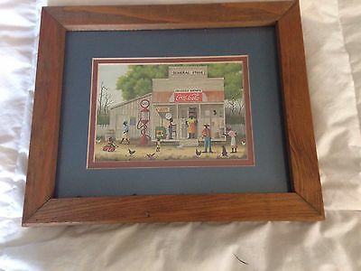 Coca Cola Print Framed General Store Rural South