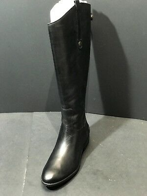1aa54d15f54ef Sam Edelman Women Penny 2 Wide-Calft Riding Boot Black Leather Size 8 M US