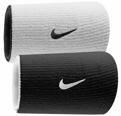 Nike Dri-Fit Wristbands Doublewide Double Wide Home Away White Black Reversible