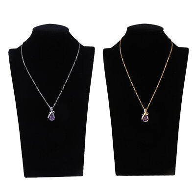 Crystal Teardrop Diamante Pendant Necklace Wedding Party Prom Bridal Accessory