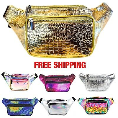 Women Fanny Pack Waist Belt Bag Water Resistant Travel Hip Purse Festival Pouch