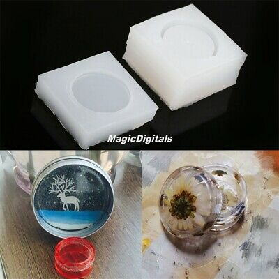 Round Box Jewelry Pendant Resin Craft Silicone Mold DIY Decor DIY Casting Craft
