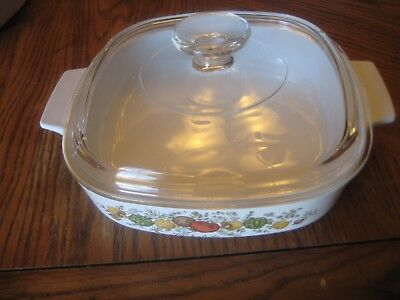 Corning Ware A-8-B Spice Of Life 1.5 Quart Casserole Dish With glass Lid-sale!!
