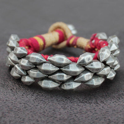 Gorgeous Beautiful Old Silver Antique Vintage Bangle Bracelet Tribal Jewelry