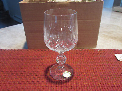 12 (2 Boxes of 6) - Karolinka by Bohemia Crystal 230 ML Goblet New in Boxes