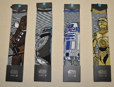 Stance X Star Wars Collection Men's Athletic Crew Socks L = 9 - 12 Pick 1 New