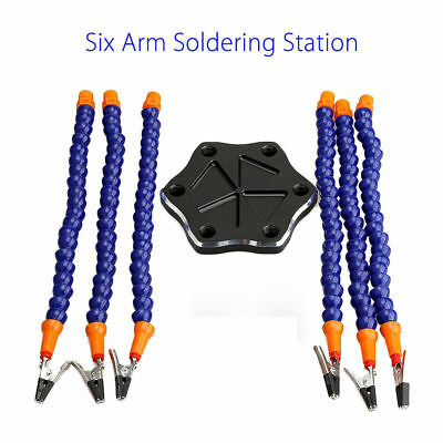PRO 6-Arm Helping Hands Soldering Tool Workstation+ 6pcs Clips for RC Racing