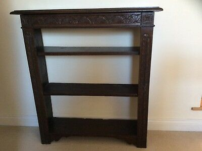 Antique Solid Dark Oak bookcases, matching pair.