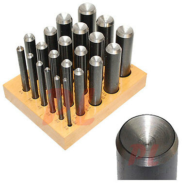 """22 PC Dapping Cutter Soft Metal Plastic Shear Punch Puncher 1 to 22mm 7/64""""-7/8"""""""