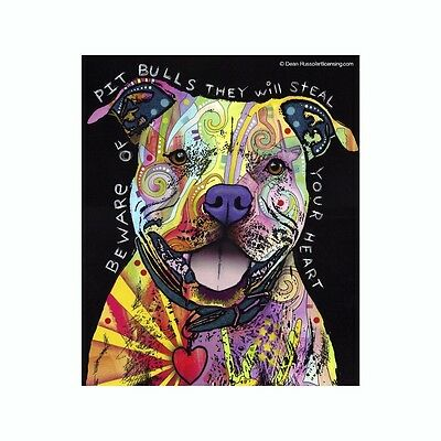 Pit Bull Beware They Will Steal Your Dean Russo Vinyl Dog Car Decal Sticker