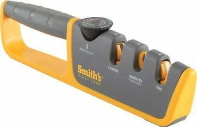 NEW Smith's Adjustable Angle Pull Thru Knife Blades Sharpener 50264 Pro Series
