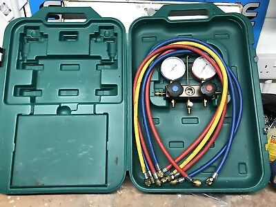 Used REFCO R410A R407c R22 2way gauges And Lines In Case.
