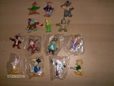 Lot of 14 1991 Kelloggs PVC characters from the Disney Afternoon TV series