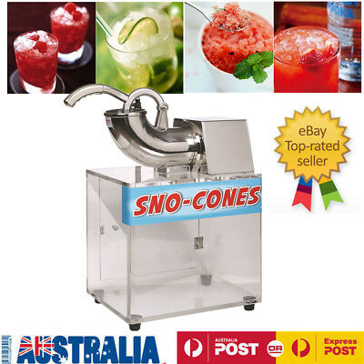 New Electric Snow Cone Machine Ice Shaver Maker Shaving Crusher Dual Blades