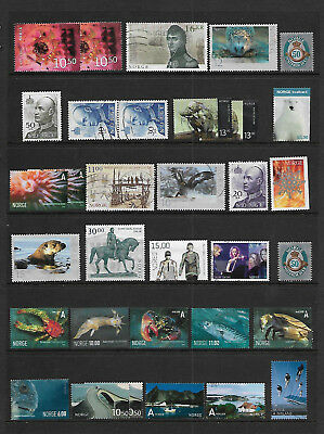 Norway - Sheet Of Better Good/fine Used Stamps