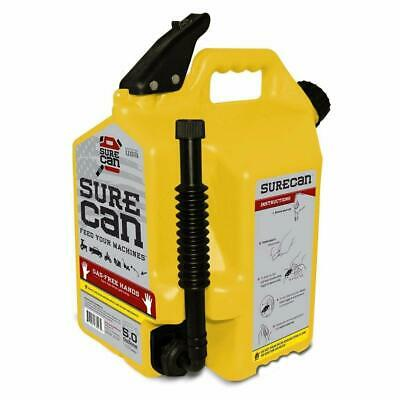 SureCan 5-Gallon Yellow Plastic Diesel Fuel Can