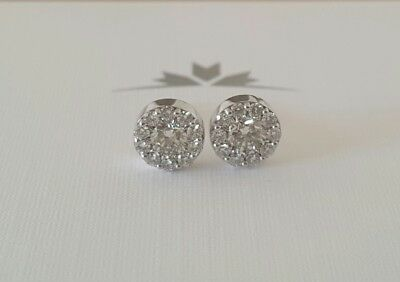 Hearts on Fire 0.50tcw Ideal Cut Diamond Fulfilment Earrings in 18ct White Gold