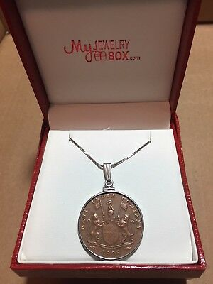 **Admiral Gardner 20 Cash Treasure Coin Sterling Pendant and Chain**