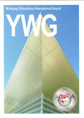 YWG Collectible Airport Trading Card Winnipeg Richardson Intl Manitoba Canada