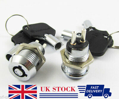 1pc Key Ignition Switch ON/OFF Lock Switch Plastic handle 10.5x19mm #506 (UK)