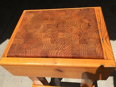Vintage Timber Butchers Block, Removable Chopping Board- Buy Now.