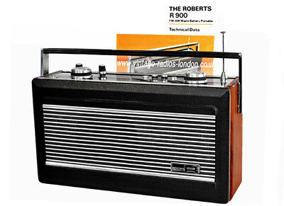 Superb 1980's Roberts R900 AM/FM  Mains/Battery Transistor Radio