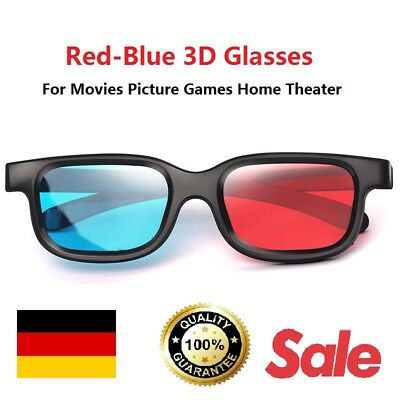 Rot-Blau 3D Brille für Beamer Filme Bild Games Heimkino High Quality Glasses