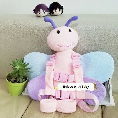 Safety Harness Strap Baby Kid Toddler Walking Backpack Reins Chimp Butterfly