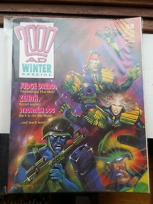 2000AD Winter Special #1 1988 with Judge Dredd Strontium dog & Rogue Trooper