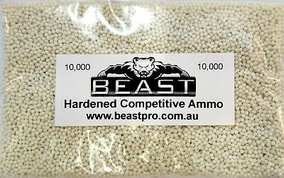 BEAST: UPGRADE MOD 10K WHITE SUPER HARD GEL BALLS 10000 7-8mm GUN AMMO MILKY