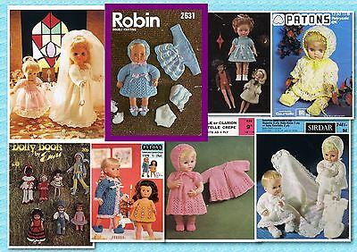 200+ VINTAGE DOLL Crochet & Knitting PATTERNS ~ Gorgeous Collection