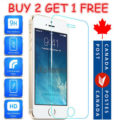 Premium Tempered Glass Screen Protector For iPhone 5, iPhone 5S, iPhone SE & 5C