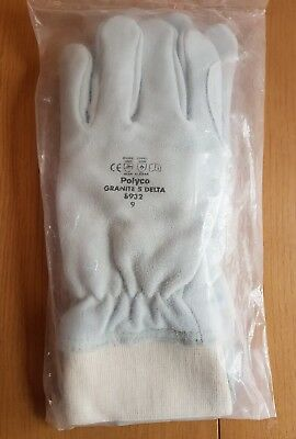 Polyco Granite 5 Delta 8932 Leather Cut Resistant Gloves - Size 9